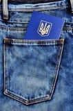 Passaporte extrangeiro do ucraniano foto de stock