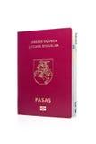 Passaporte lituano. fotografia de stock royalty free