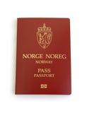 Passaporte norueguês Imagem de Stock Royalty Free