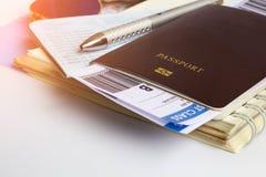 Passaporte para o curso Imagens de Stock Royalty Free