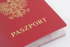 Passaporte polonês Imagem de Stock