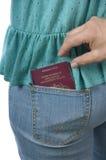 Passaporte que está sendo roubado Imagem de Stock Royalty Free