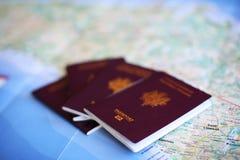 Passaporte a viajar Foto de Stock
