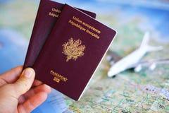 Passaporte a viajar Fotos de Stock