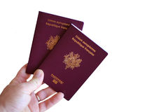 Passaporte a viajar Imagem de Stock Royalty Free