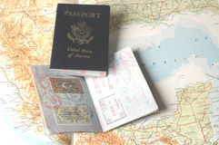 Passaportes foto de stock