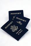 Passaportes americanos Fotos de Stock Royalty Free