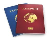 Passaportes biométricos Fotografia de Stock