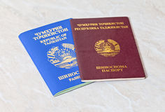 Passaportes de Tajiquistão Imagem de Stock Royalty Free