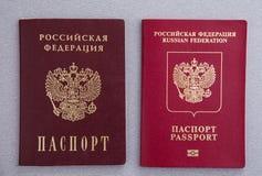 Passaportes do russo Imagem de Stock Royalty Free