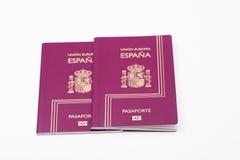 Passaportes espanhóis Fotografia de Stock