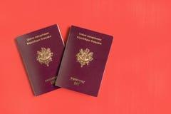 Passaportes franceses Imagens de Stock