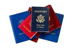 Passaportes internacionais Fotografia de Stock