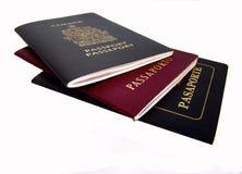 Passaporti fotografia stock libera da diritti