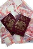 Passaporti britannici Immagini Stock Libere da Diritti