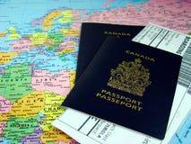 Passaporti canadesi Fotografie Stock Libere da Diritti