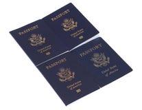 Passaporti degli Stati Uniti Fotografia Stock Libera da Diritti