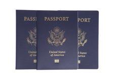 Passaporti degli Stati Uniti Immagine Stock