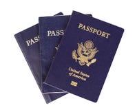 Passaporti degli Stati Uniti Fotografie Stock Libere da Diritti
