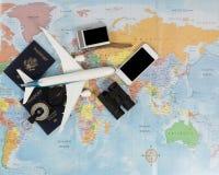 Passaporti degli Stati Uniti per trekking intorno al mondo Fotografie Stock Libere da Diritti