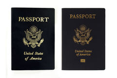 Passaporti degli Stati Uniti - vecchi e nuovi Immagine Stock Libera da Diritti