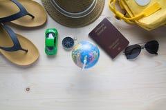 Passaporti dei costumi degli accessori di viaggio Immagini Stock