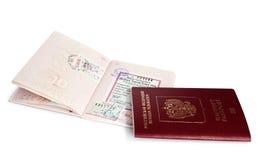 Passaporti di Federazione Russa Fotografie Stock