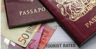 Passaporti di viaggio d'affari Fotografie Stock