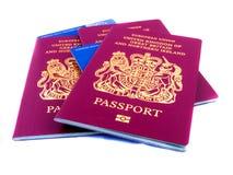 Passaporti e Ehic Fotografia Stock Libera da Diritti