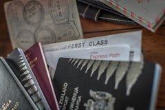 Passaporti e visto Fotografia Stock