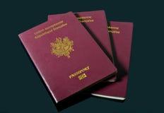 Passaporti francesi immagini stock