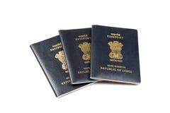 Passaporti indiani Fotografia Stock Libera da Diritti