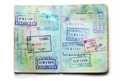 Passaporti in pieno dei bolli Immagine Stock Libera da Diritti