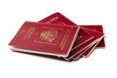 Passaporti russi Fotografie Stock