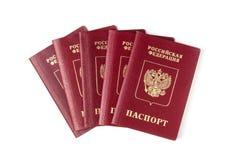 Passaporti russi Fotografia Stock