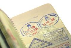 Passaporto in Asia ed il mondo Fotografia Stock