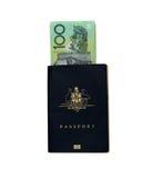 Passaporto australiano Fotografia Stock