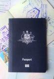 Passaporti australiani Immagine Stock Libera da Diritti