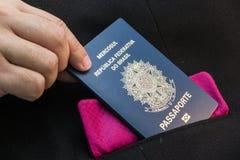 Passaporto brasiliano fotografie stock libere da diritti