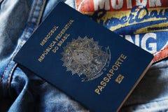 Passaporto brasiliano Fotografia Stock