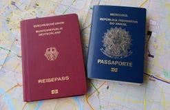 Passaporto brasiliano e tedesco Immagine Stock Libera da Diritti