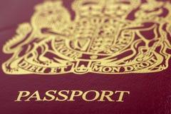 Passaporto britannico Fotografie Stock