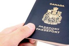 Passaporto canadese Immagini Stock