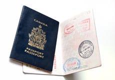 Passaporto canadese Immagini Stock Libere da Diritti