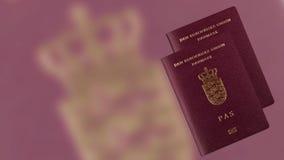 Passaporto danese fotografie stock