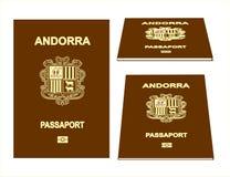 Passaporto dell'Andorra Fotografia Stock