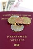 Passaporto dell'Ue Fotografie Stock