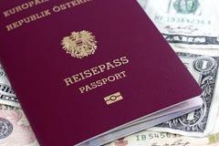 Passaporto dell'Ue Fotografia Stock
