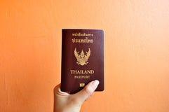 Passaporto della Tailandia Fotografie Stock