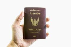Passaporto della Tailandia disponibile Fotografia Stock Libera da Diritti